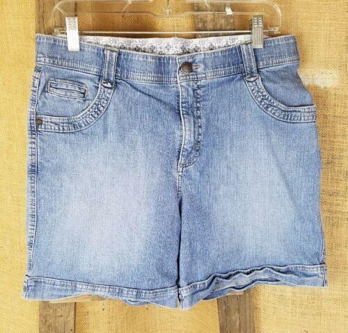 Lee women 8 high waist short jeans pants blue