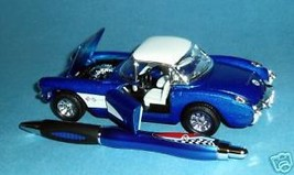 Blue 1957 Chevy Corvette Special Edition Diecast & Pen - MIB - $30.91