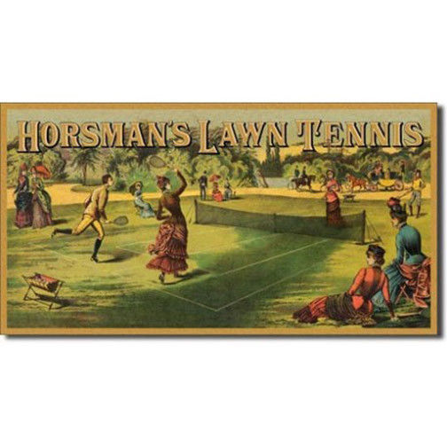 Primary image for Horseman's Lawn Tennis Vintage Style Metal Sign