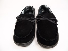 Rockport Moccasin Slippers Indoors-Outdoors Leather Black Size 8.5-9 - $43.53