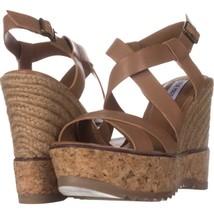 Steve Madden Elllaa Wedge Espadrille Cork Sandals, Natural, 10 US - $34.55