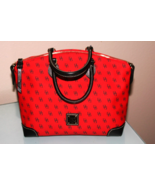 Dooney & Bourke Bright Red Top Zip Satchel New With Tags - $134.95