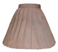 Women`s School Uniform High Waist Flat Pleated Skirts (4XL ,Dark Brown) - $25.73