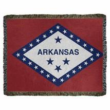 Arkansas Flag Cotton Throw Blanket 46x59 - $34.64