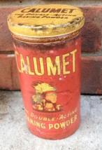 Calumet Baking Powder Tin Metal Antique Vintage Style Kitchen Repro  Sm - $7.84
