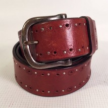 EUC WOMEN'S AEROPOSTALE Brown LEATHER BELT  SIZE 32-34 - $17.63