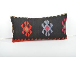 kilim pillow,lumbar kilim pillow,lumbar cushion,kilim cushion,pillow case,30x60  - $55.00
