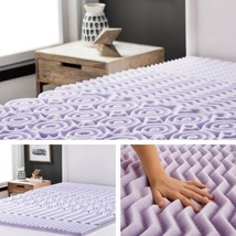"Memory Foam Mattress Topper 2"" Inch Lavender Queen Size Soft Plush Mattr... - $55.65"