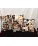 Cat Pillows set of 3 Handmade - $24.19