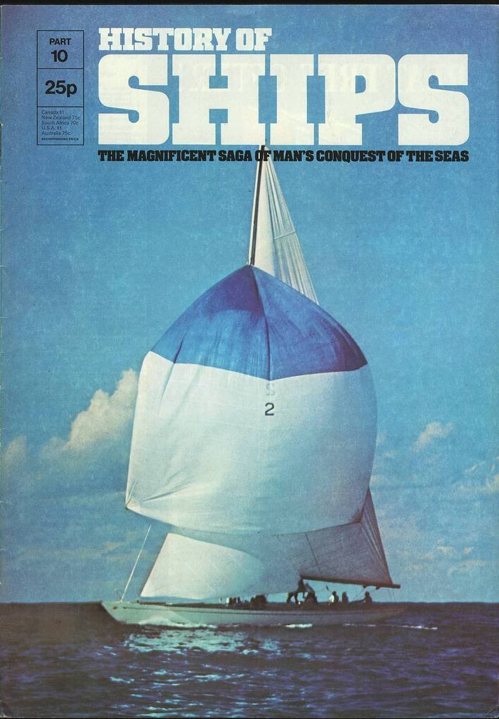 HISTORY OF SHIPS #10  1975 VG TO FINE RARE
