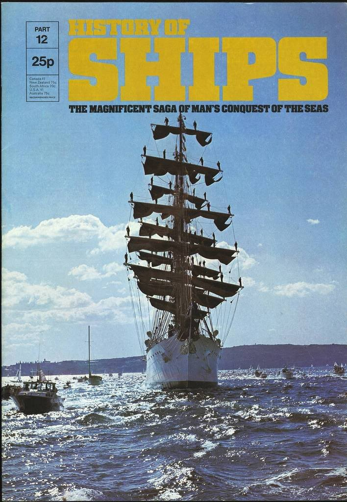 HISTORY OF SHIPS #12  1975 VG TO FINE RARE