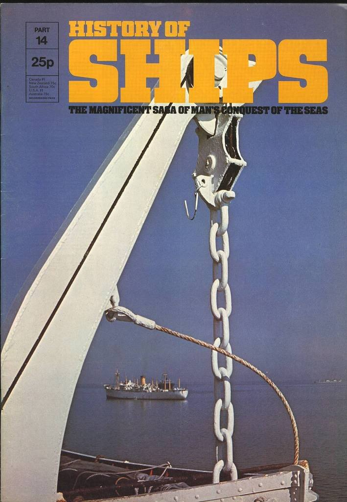 HISTORY OF SHIPS #14  1975 VG TO FINE RARE