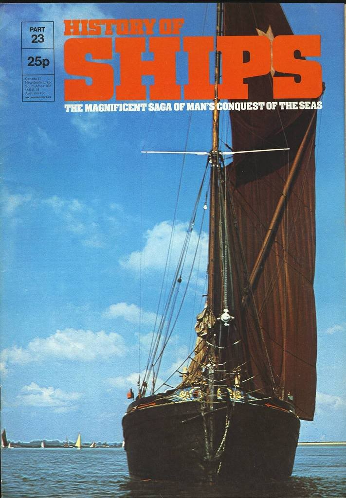 HISTORY OF SHIPS #23  1975 VG TO FINE RARE