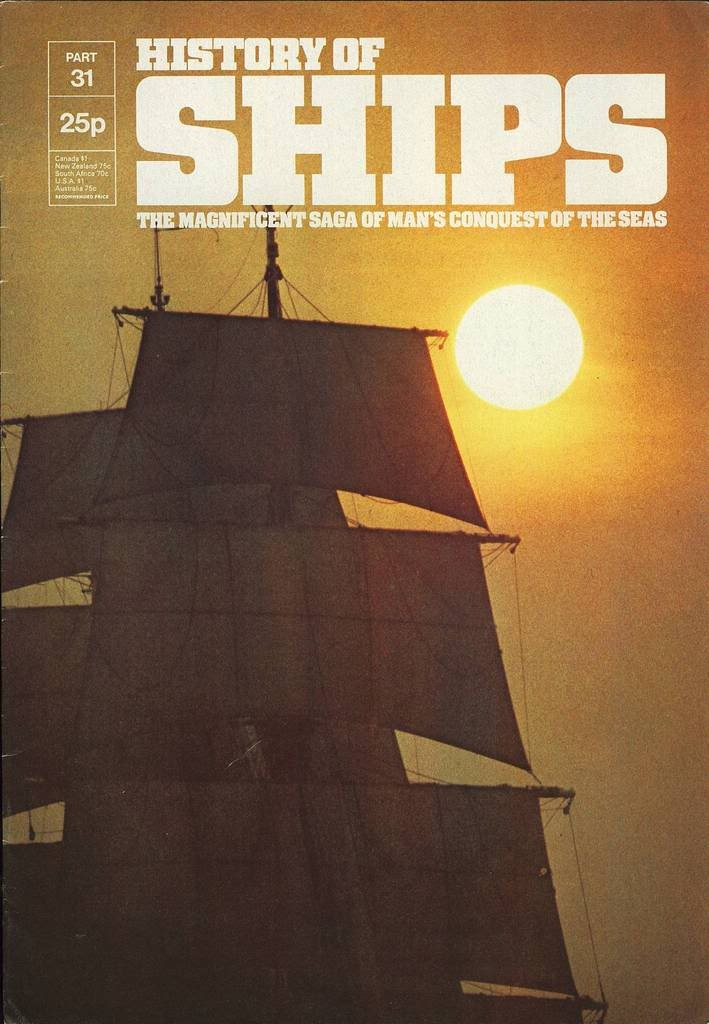 HISTORY OF SHIPS #31  1975 VG TO FINE RARE