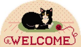 "Latch Hook Pattern Chart: READICUT #547 Purrfect Welcome  20"" x 34"" - EM... - $6.95"