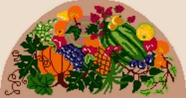 "Latch Hook Pattern Chart: READICUT #685 Fresh Fruit  30"" x 56"" semi - EM... - $6.95"