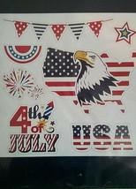 July 4th Patriotic Refrigerator Garage Magnet Stars Stripes Fireworks NEW - $3.95