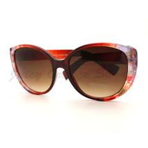 Flower Print Sunglasses Classic Round Butterfly Elegant Floral Colors - $7.95