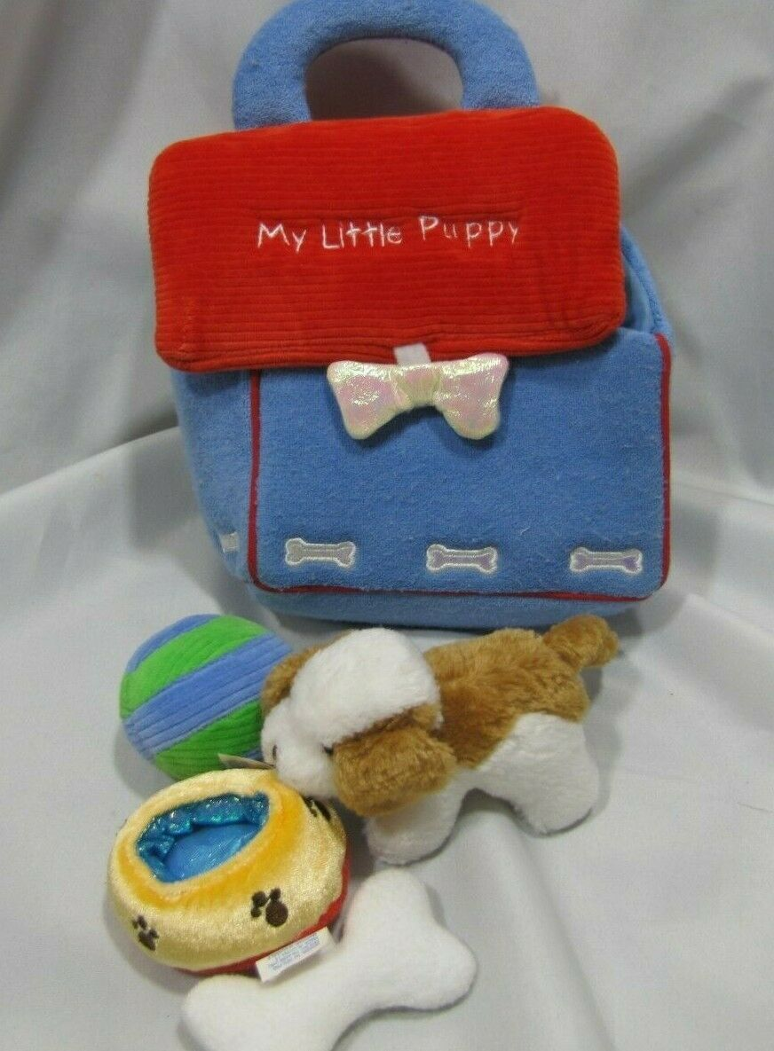 Primary image for Gund My Little Puppy playset doghouse dog house barking crinkle bone water bowl