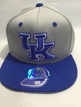 NCAA Kentucky Wildcats Cap, kids Boys, Snapback Hat, Gray, Blue, Flatbrim   - $14.54