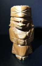 Wood Tiki Carved Russian Figure Doll Totem - $14.85