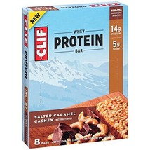 CLIF Whey Protein - Snack Bar - Salted Caramel Cashew - 1.98 Ounce, 8 Count - $30.97