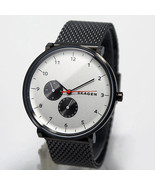 BRAND NEW SKAGEN SKW6188 HALD SMOKE-TONE STAINLESS STEEL WHITE DIAL MEN'S WATCH - $116.81