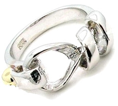 Classic 925 Sterling Silver Belt Buckle Cinch Tie Two Tone Polished Ring... - $44.97