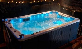 Huge Spa Massage Swim Hot Tub Big 6 Seats Full Length Lounger LED Lights... - $36,200.00