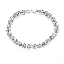 Made with Swarovski Crystals Tennis Bracelet 7 Inches - $12.73