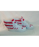 Adidas jeremy scott wings american flag red and white men size 7.5 shoes - $215.00