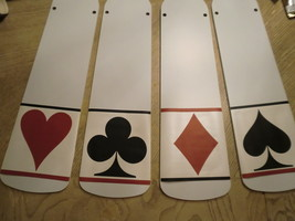 Custom ~ House Of Cards Game Room Ceiling Fan Diamonds Spades Clubs Hearts - $99.99