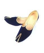 F-54 Blue Velvet Royal Look Traditinol Khussa Shoe/Juti/Mojari MENS Usa ... - $22.77