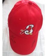 OC Springfield Cardinals Red Adj Snap Back Baseball Cap Hat! TWO Autogra... - $41.55