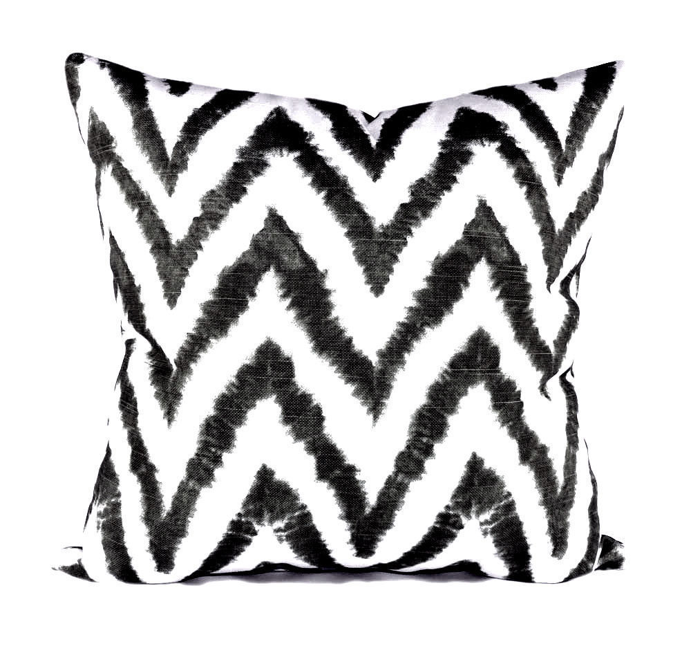Chevron Watercolor Throw Pillow