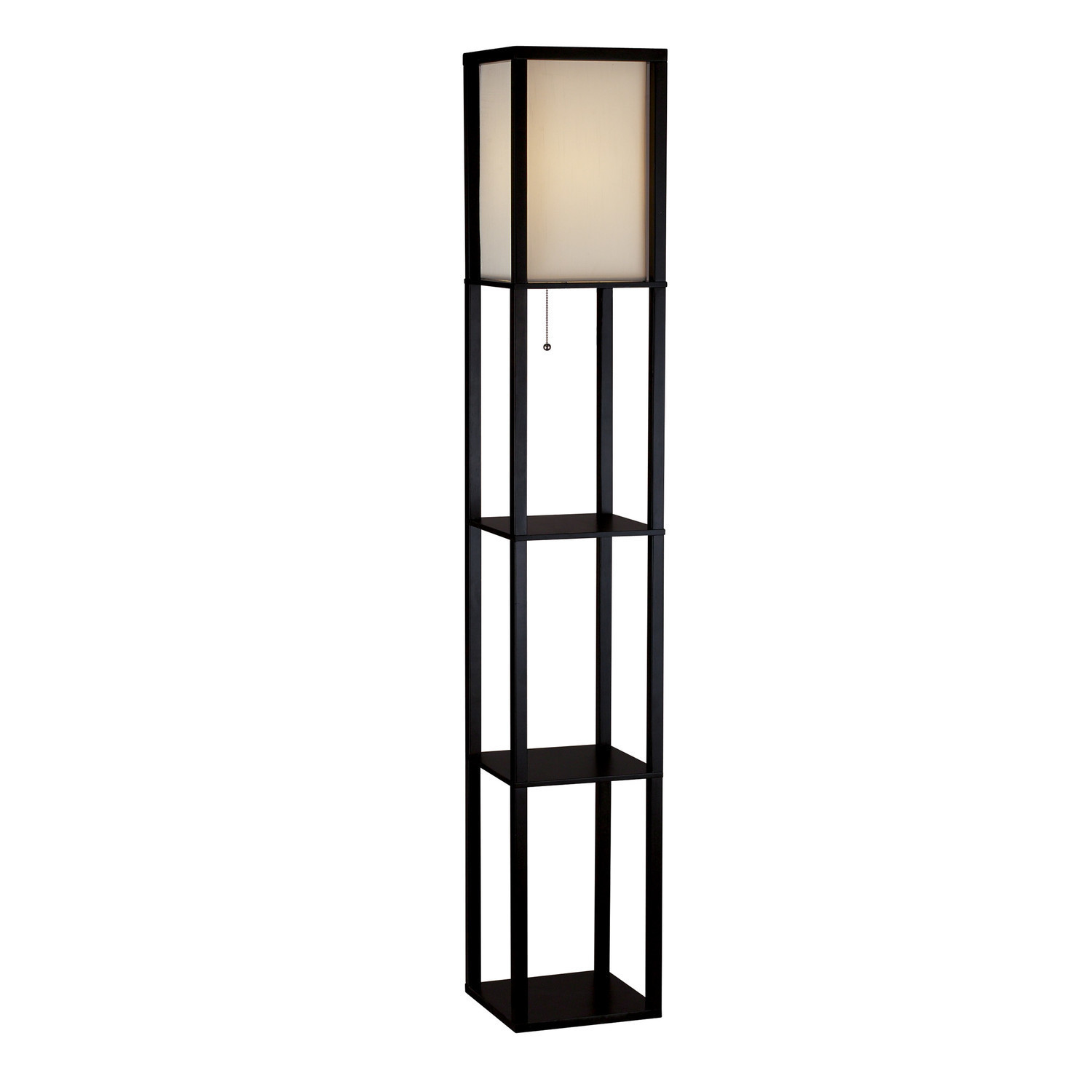 Tiered Storage Floor Lamp