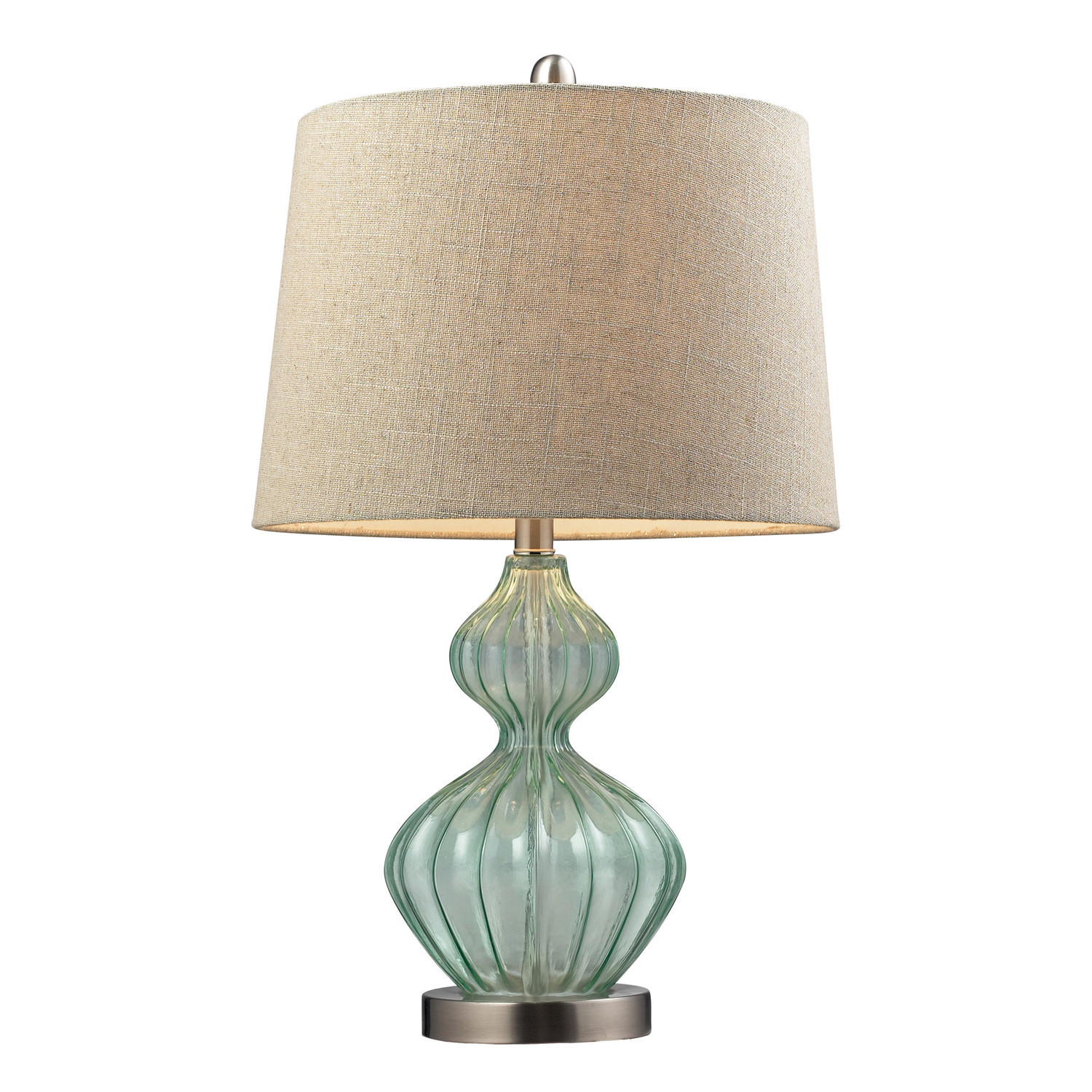 Turqoise Table Lamp with Empire Shade