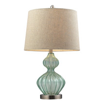 Turqoise Table Lamp with Empire Shade - $42.99