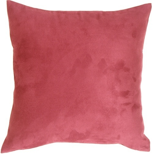 Pink Suede Throw Pillow