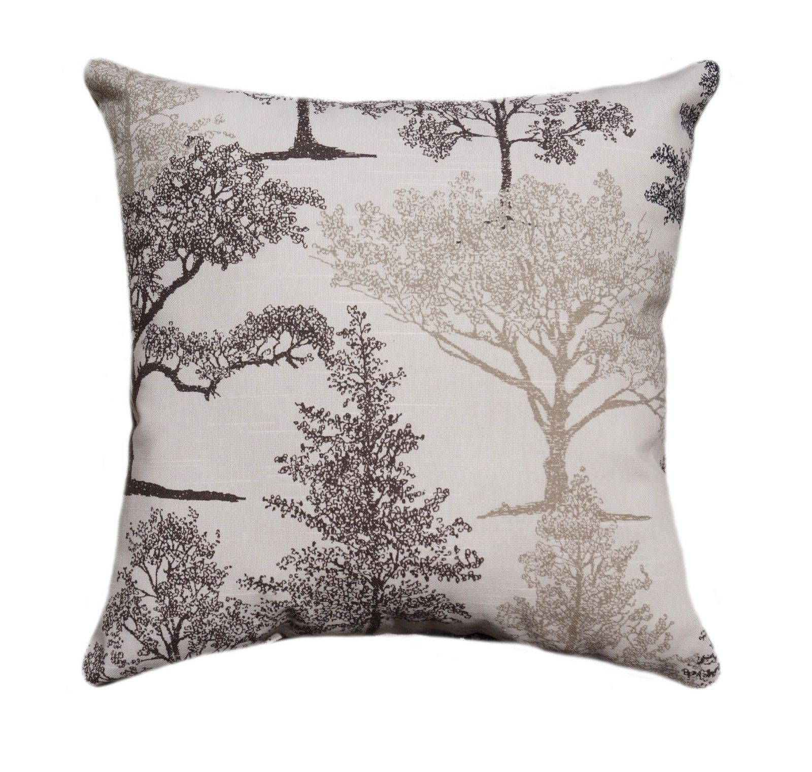 Tree Stencil Print Throw Pillow