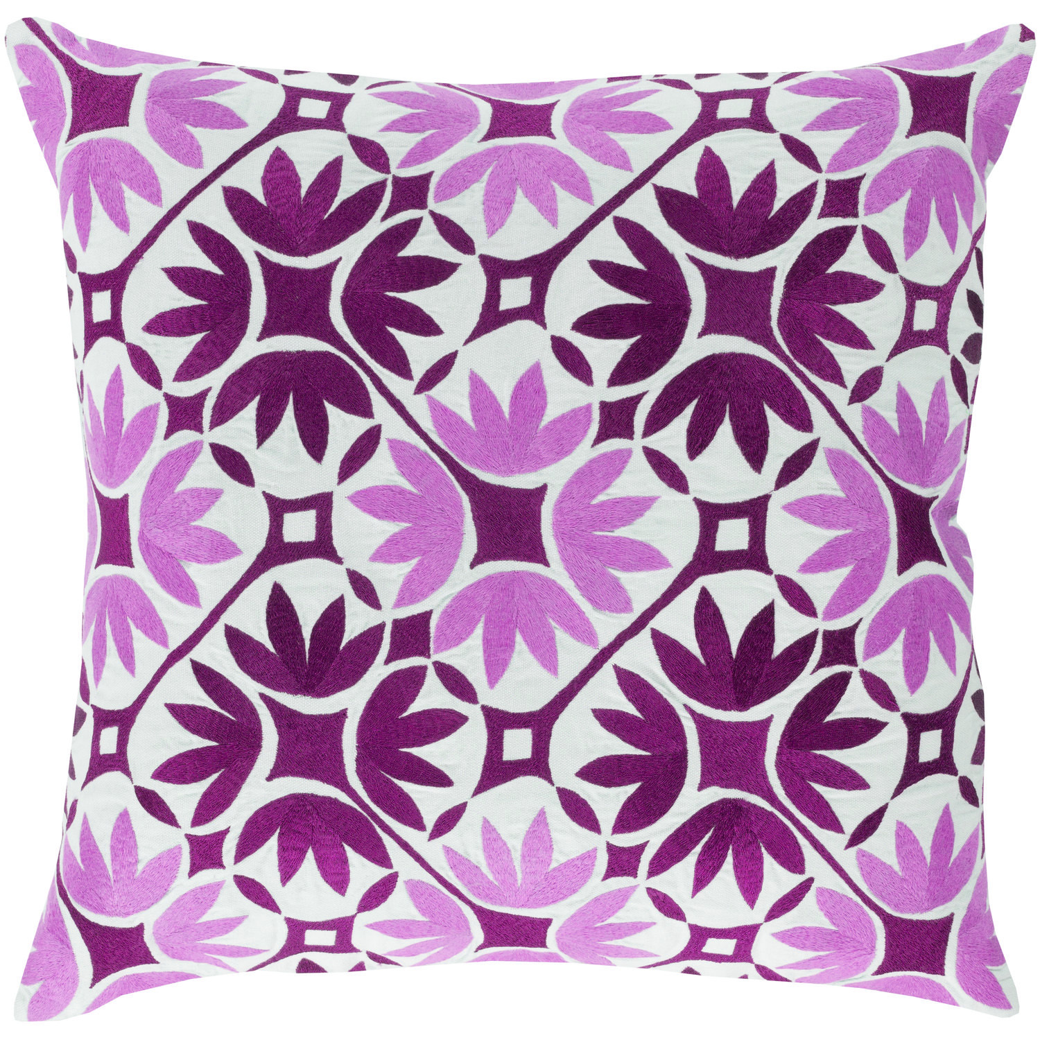 Bloom Embroidered Pillow