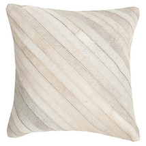 Striped Faux Fur Throw Pillow image 2