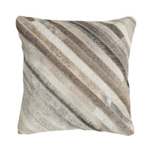 Striped Faux Fur Throw Pillow image 3