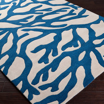 Cobalt Coral Pattern Area Rug image 2