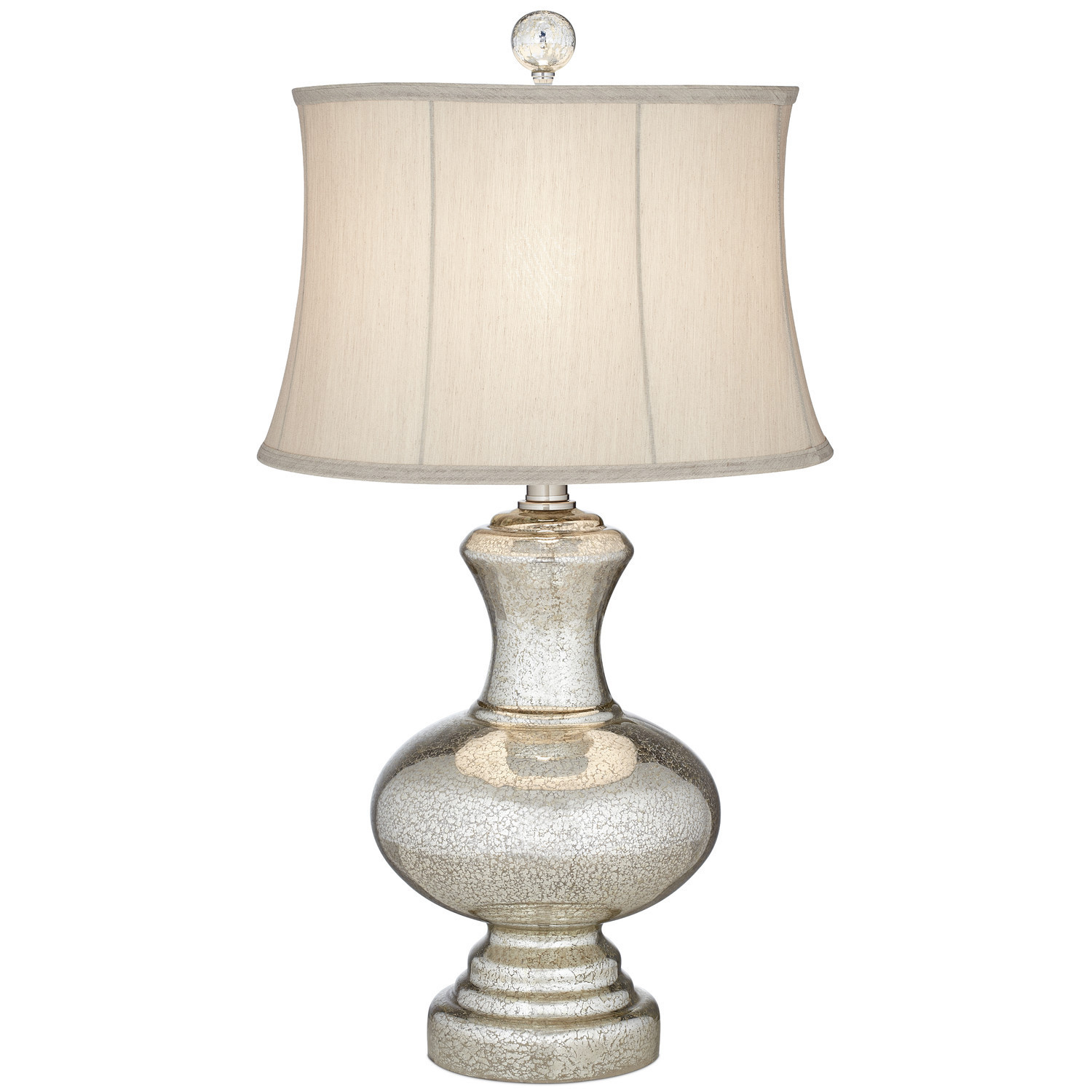 Silver Mercury Table Lamp with Drum Shade