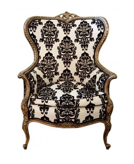 Elegant Vintage Style Damask Chair