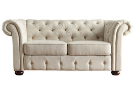 Ivory Tufted Loveseat - $319.99
