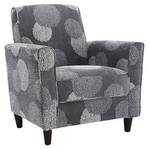Grey Floral Print Accent Chair image 2