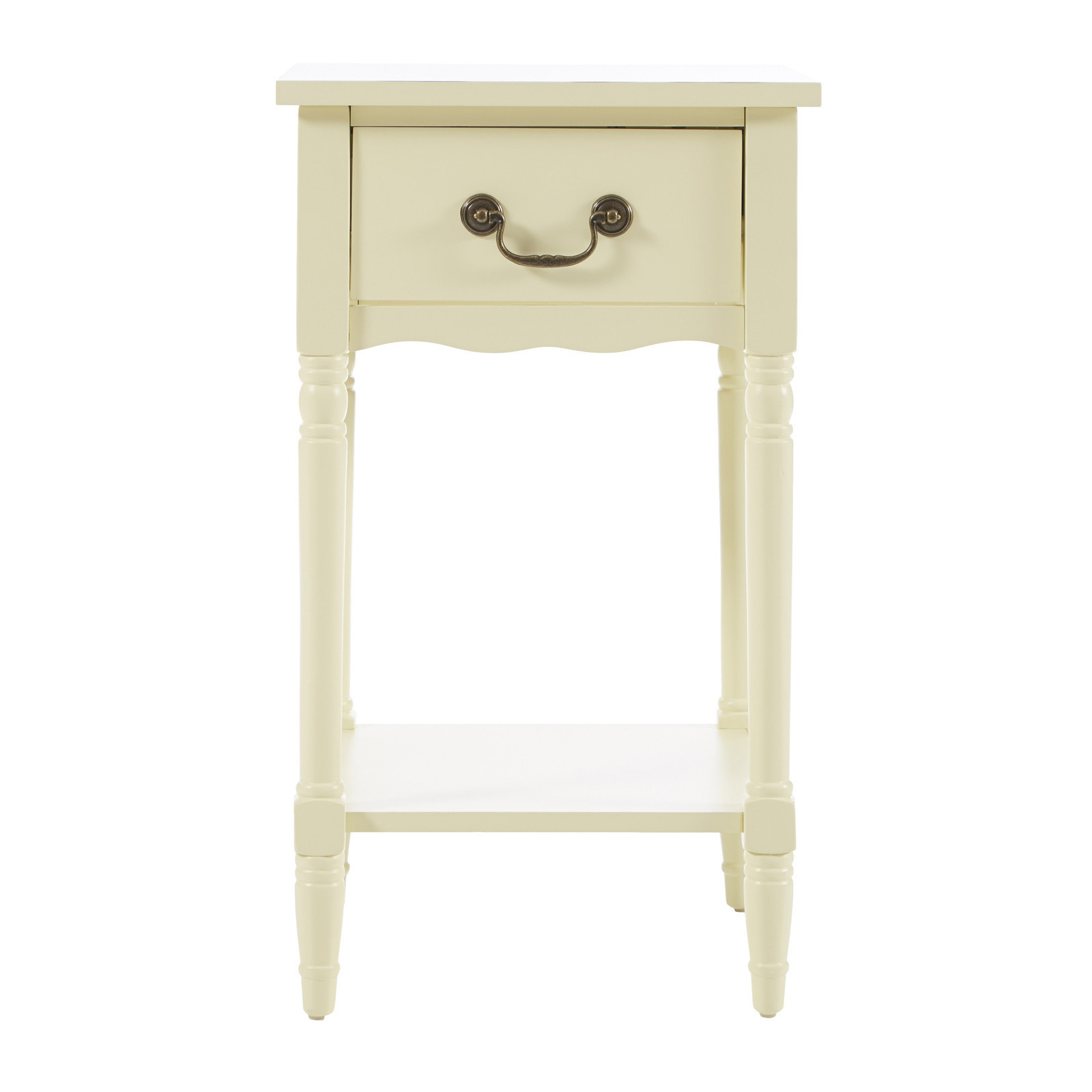 Ivory Scalloped Side Table