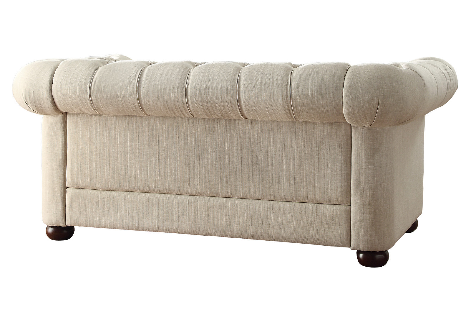 Ivory Tufted Loveseat Furniture